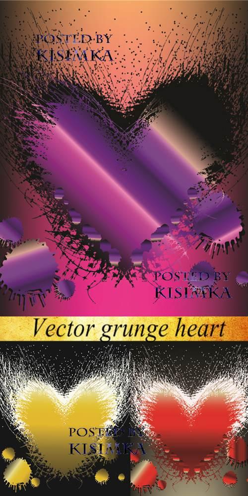 Stock: Vector grunge heart