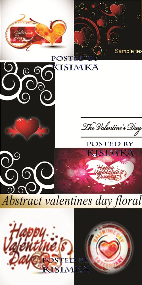 Stock: Abstract valentines day floral