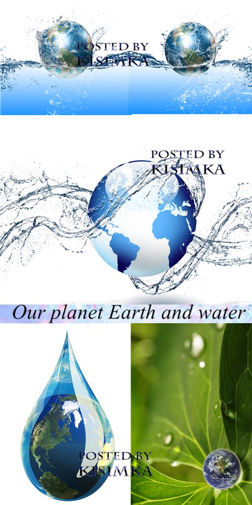 Stock Photo: Our planet Earth and water