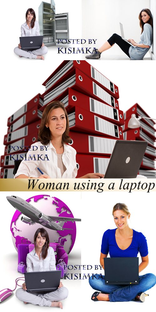 Stock Photo: Woman using a laptop