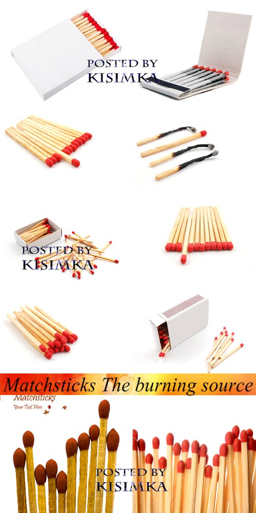 Stock Photo: Matchsticks The burning source