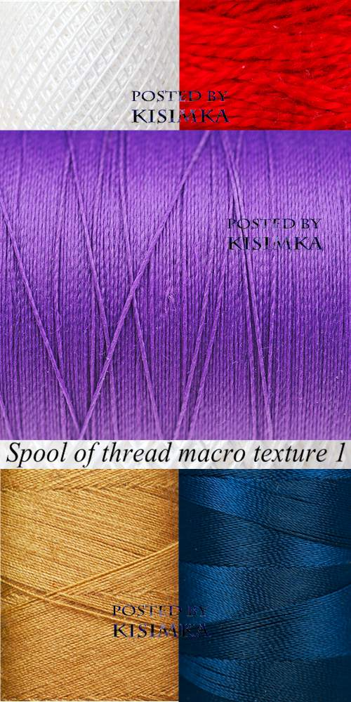 Stock Photo: Spool of thread macro texture 1