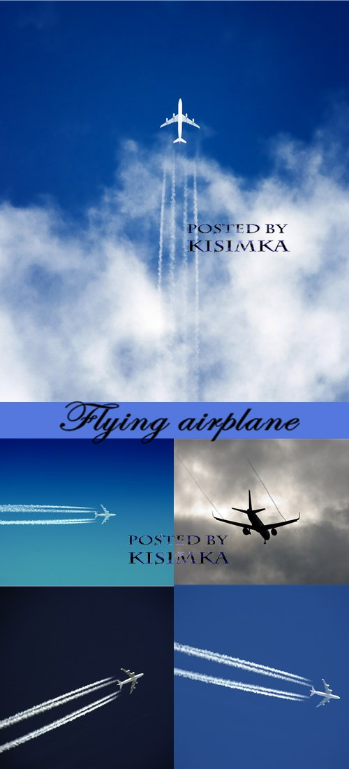 Stock Photo: Flying airplane