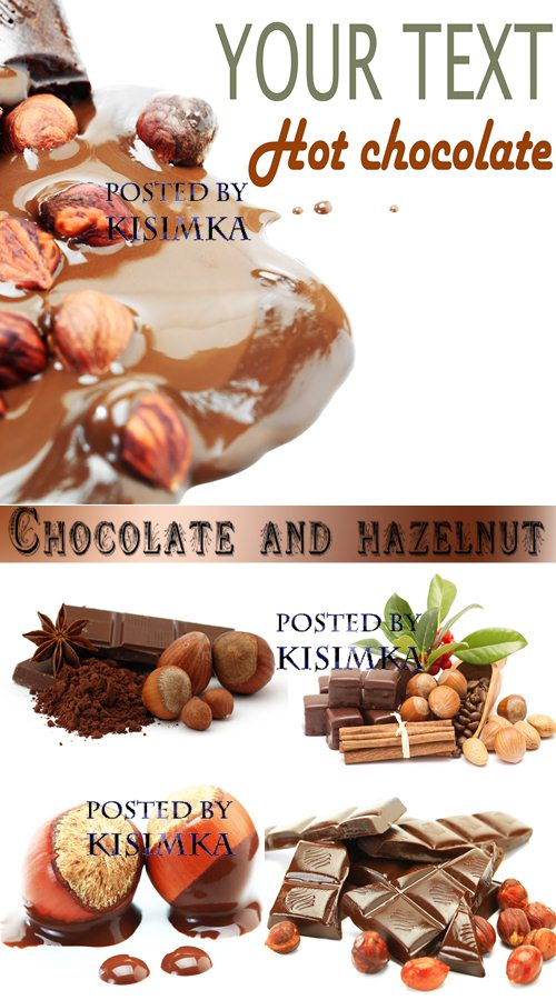 Stock Photo: Chocolate and hazelnut