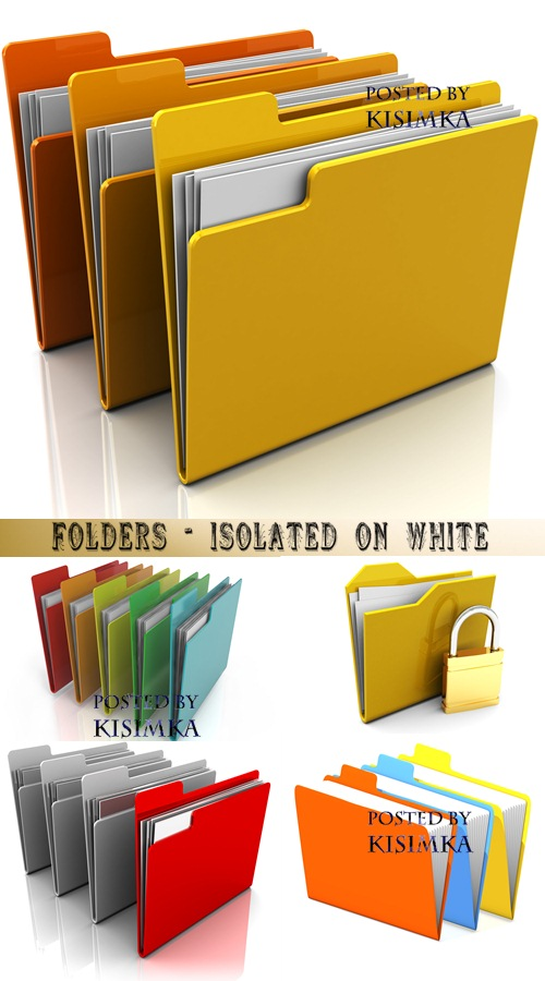 Stock Photo: Folders - isolated on white