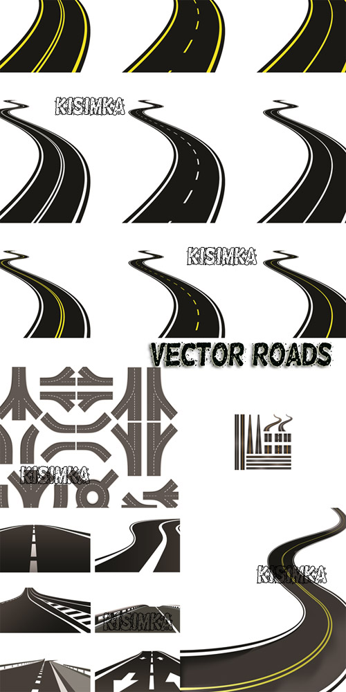 Stock: Vector roads