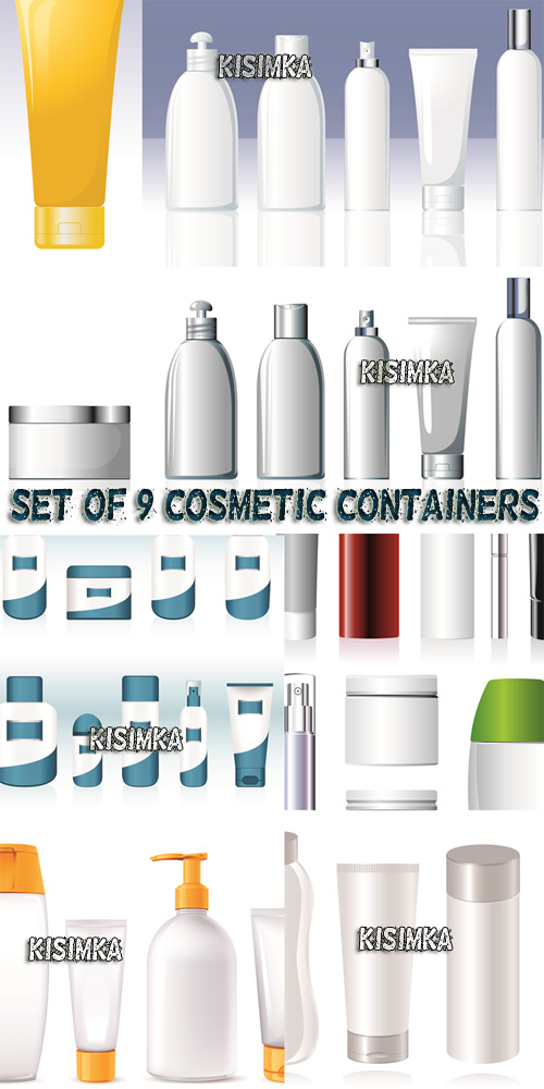 Stock: Set of Cosmetic Containers