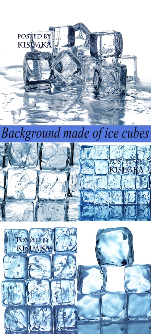 Stock Photo: Background made of ice cubes