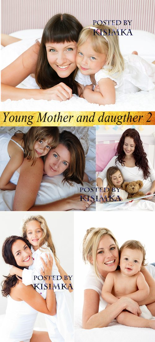 Stock Photo: Young Mother and daugther