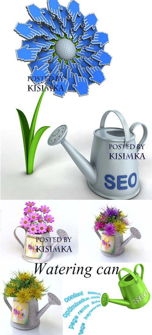 Stock Photo: Watering can