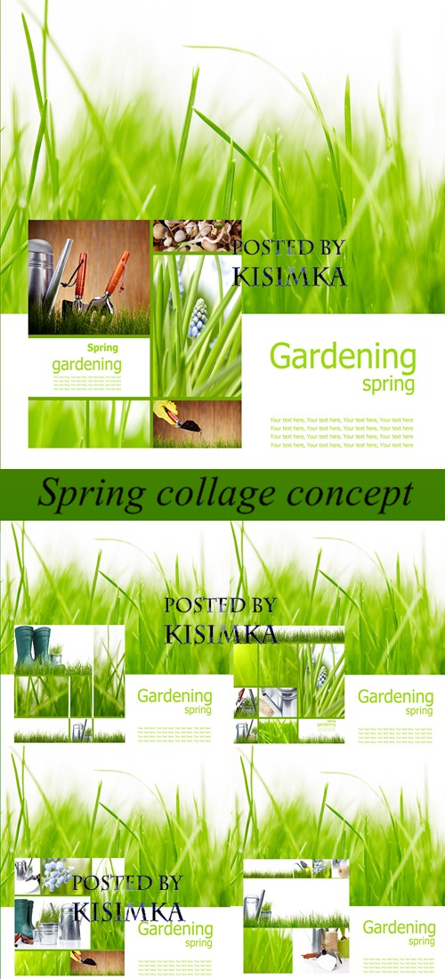 Stock Photo: Spring collage concept
