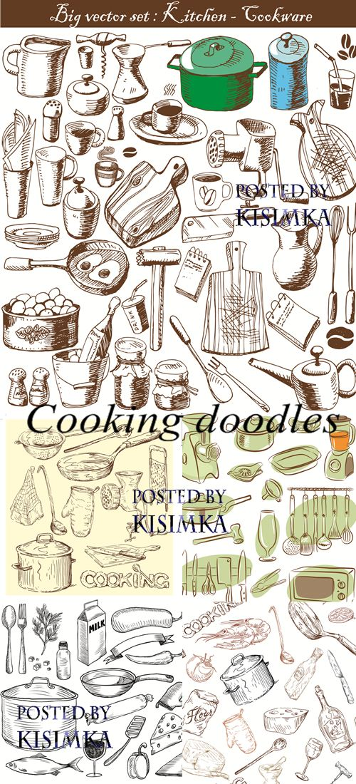 Stock: Cooking doodles