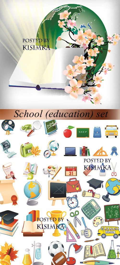 Stock: School (education) set