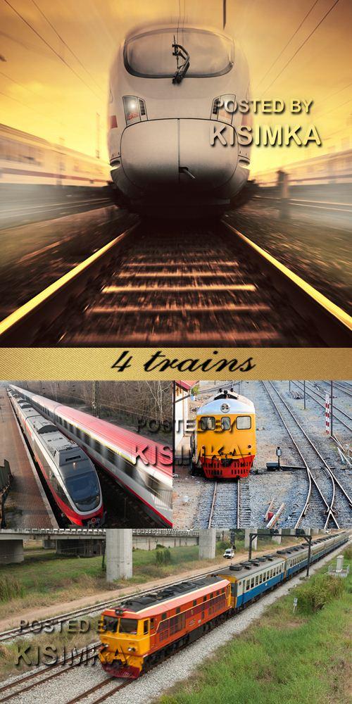 Stock Photo: 4 trains