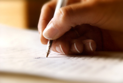 Writing illustration