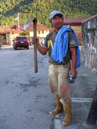 Hombre campesino Santo Domingo estado Mérida Venezuela