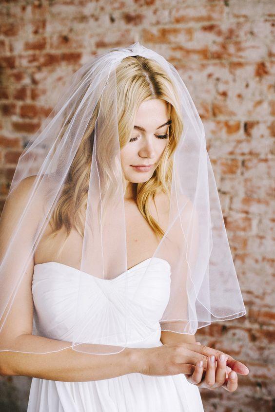 medium length wedding veil