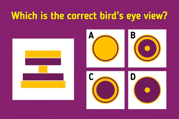 """Brain teaser """"which is the correct bird's eye view"""""""