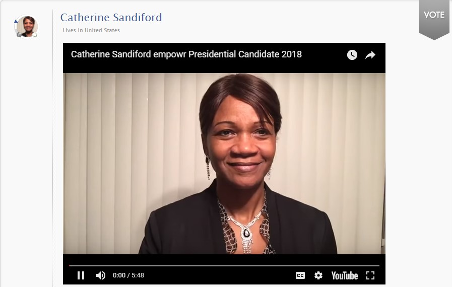 Catherine Sandiford for empowr President 2018