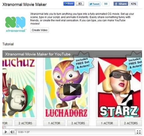 YouTube Create - Xtranormal Movie Maker