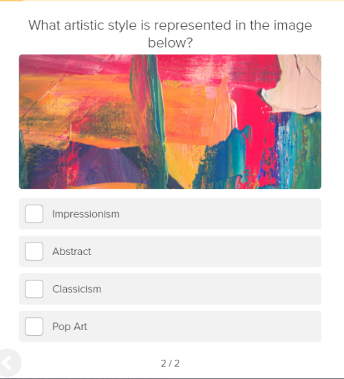 quiz question about art style