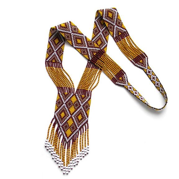 купить славянские народные украшения из бисера с орнаментами анабель