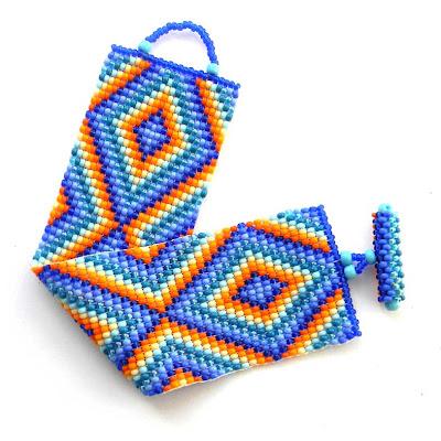 купить широкий яркий браслет из бисера украина симферополь