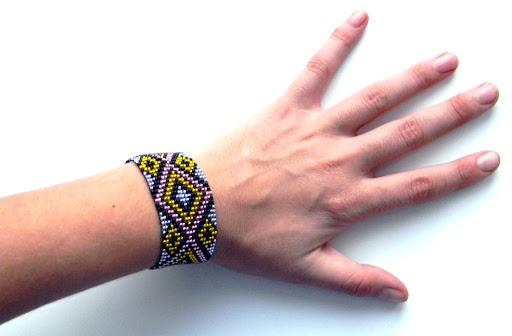 браслет бисер Anabel ткачество бисероплетение handmade