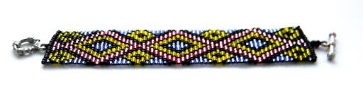 купить браслеты из бисера с орнаментом