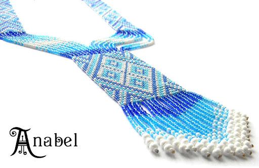 купить гердан(гайтан) голубых оттенков Anabel