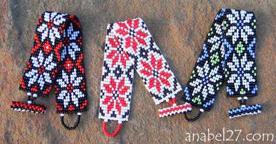 купить летние браслеты из бисера Anabel