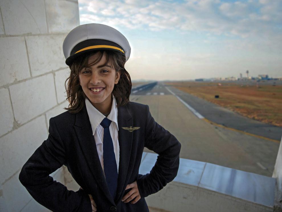 Amani, 10, future pilot
