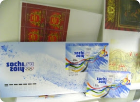 Новые конверты и марки в честь Сочинской олимпиады