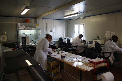 il reparto di anatomia patologica ancora nei container