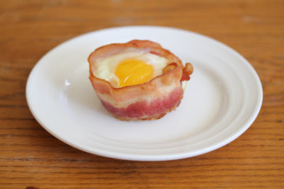 photo of one Bacon Egg Toast Cup on a plate