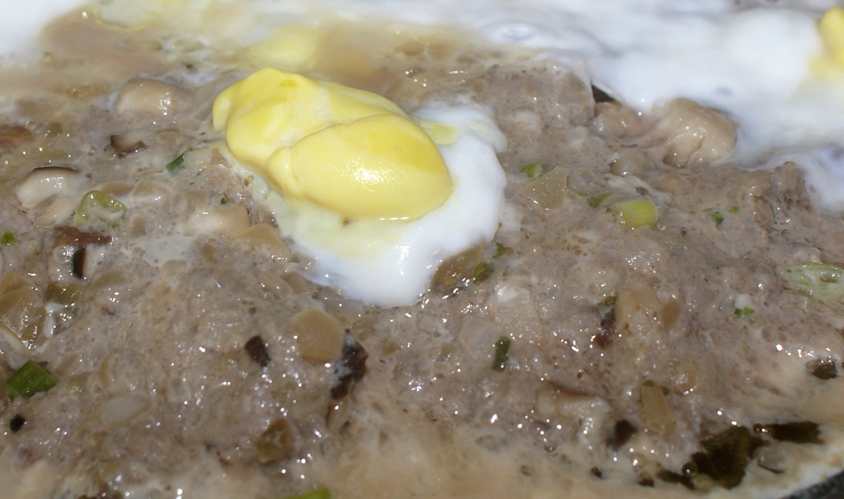 Steamed Minced Pork with Salt Eggs