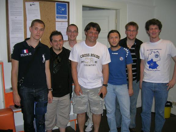 Laurent Fournier et toute l'équipe