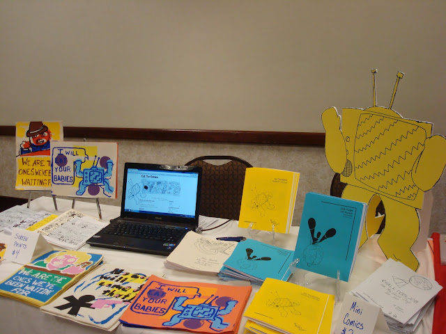 My very first table at an Alt Comics show - ever!