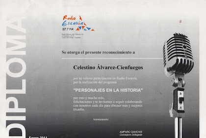 Diploma Celestino Álvarez-Cienfuegos Ballester