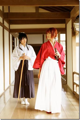 rurouni kenshin cosplay - kamiya kaoru and himura kenshin