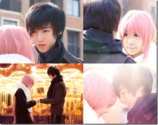 vocaloid 2 cosplay - megurine luka and hiyama kiyoteru