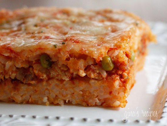 Sicilian Rice Ball Casserole, a dish your whole family will enjoy.