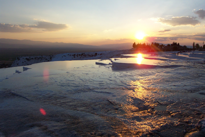 Puesta de sol en Pamukkale