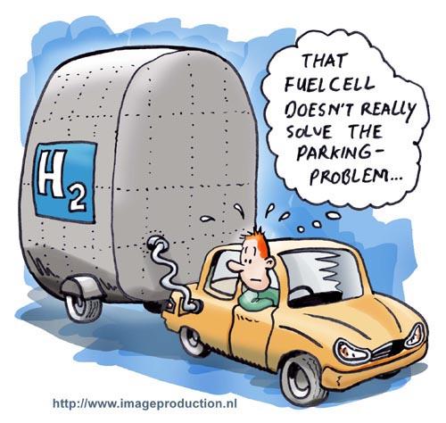 Hybrid car and parking issue cartoon