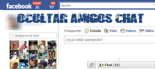 ocultar amigos chat Facebook