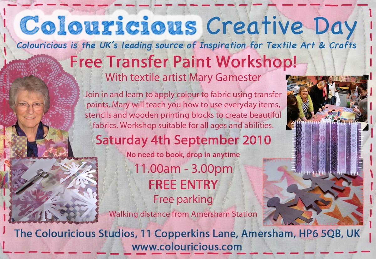 Colouricious Creative Day- Transfer Paints