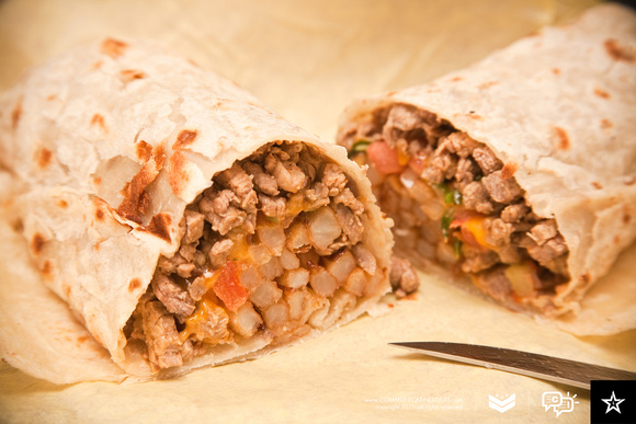 Taco Fiesta's California Burrito in Paradise Hills