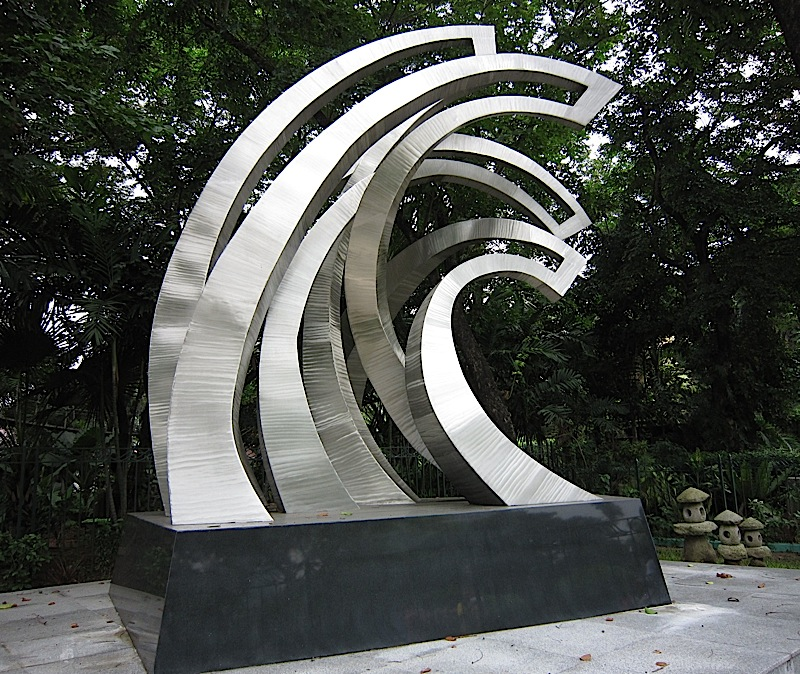 the sculpture titled Soul Waves at the Rizal Park