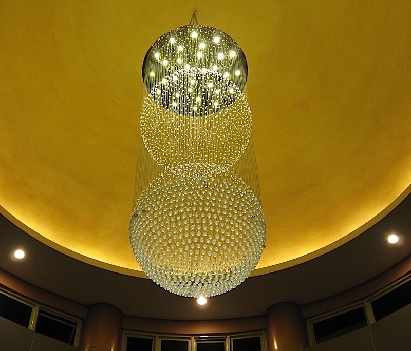 chandelier at Loyola Memorial Chapels Commonwealth