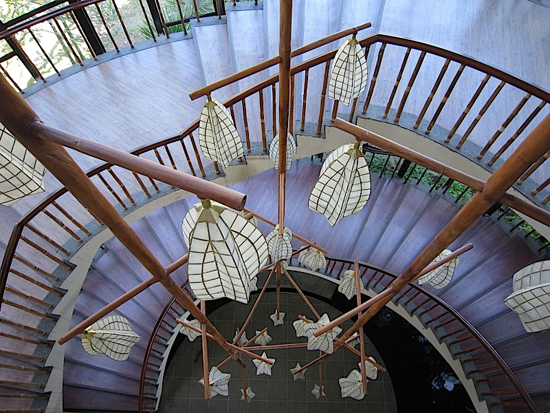 spiral staircase at the Bukal ng Tipan spirituality center